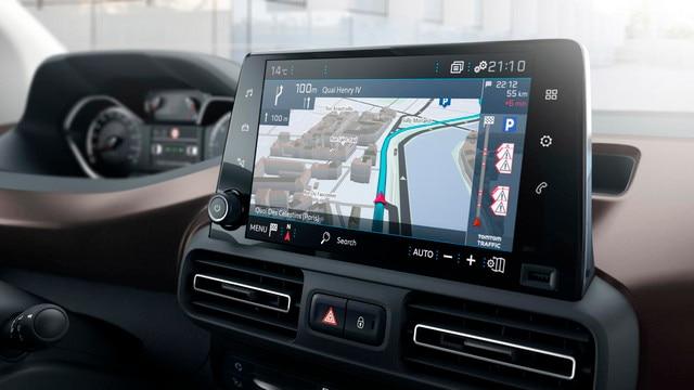 Nieuwe PEUGEOT Rifter – Connect 3D-navigatiesysteem met spraakherkenning