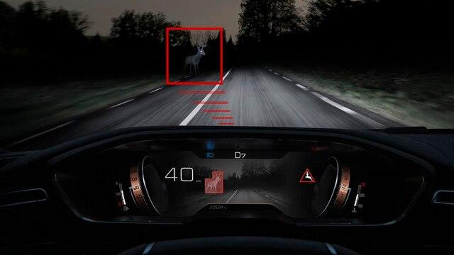 Nieuwe PEUGEOT 508 Berline, Night Vision-technologie, voor een optimaal zicht in het donker