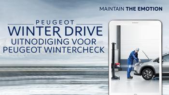 Peugeot Winter Drive - uitnodiging voor de Peugeot Wintercheck