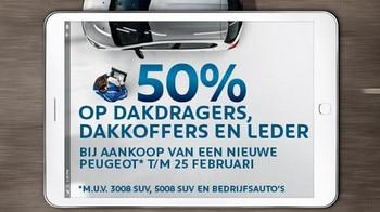 50% op dakdragers - dakkoffers en leder