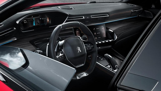 Nieuwe PEUGEOT 508 GT Berline, portieren zonder raamstijlen.