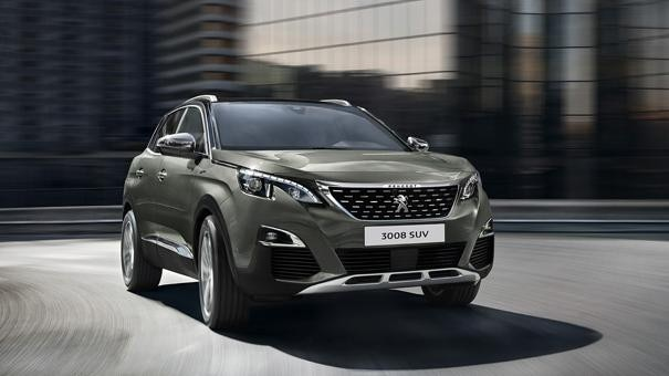 Peugeot 3008 SUV Blue Lease