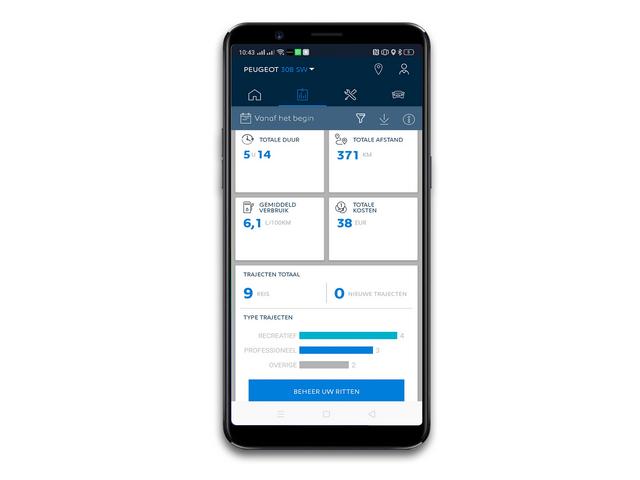 MyPeugeot App - Houd uw brandstofverbruik bij
