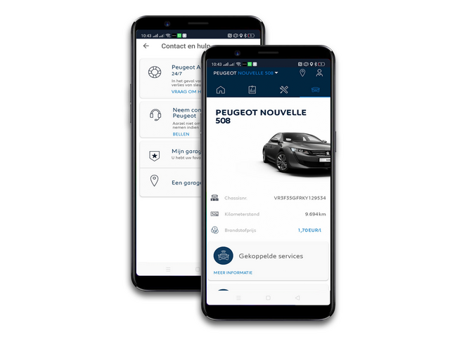 MyPeugeot App - Connected Services