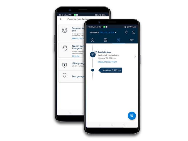 MyPeugeot App - Regel het onderhoud