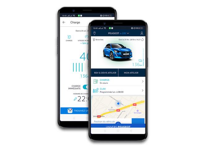 MyPeugeot App - Op afstand laden van tractiebatterij