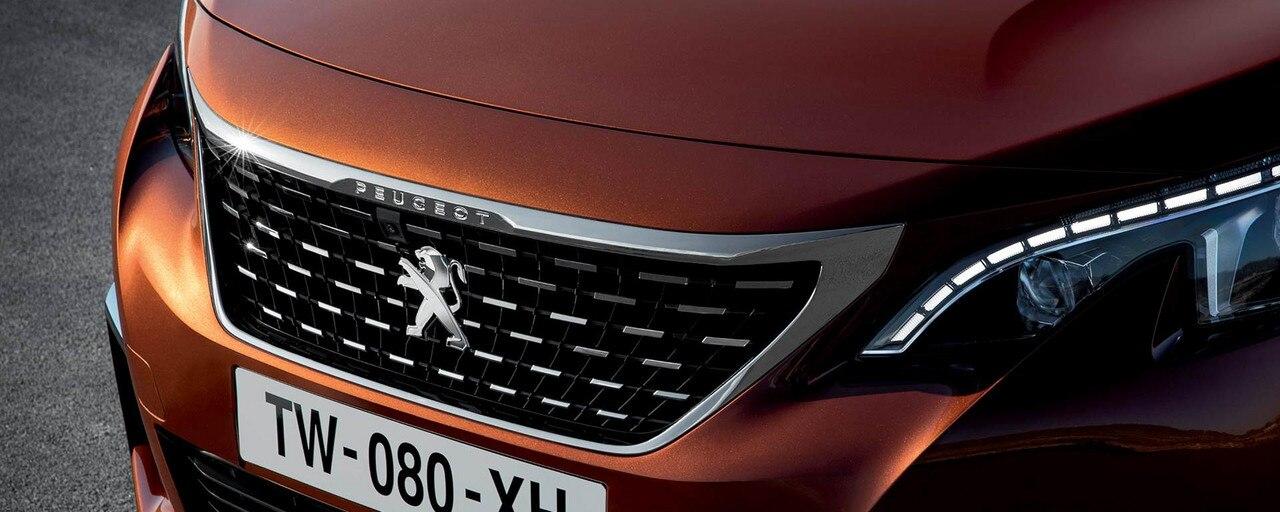 Logo op de Peugeot 3008 SUV