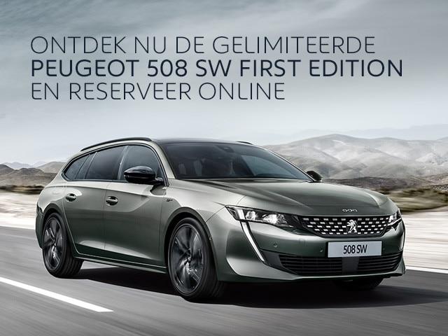 Ontdek de gelimiteerde Peugeot 508 SW First Edition - Reserveer online