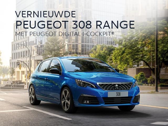 Vernieuwde PEUGEOT 308 RANGE - Met PEUGEOT DIGITAL i-COCKPIT®