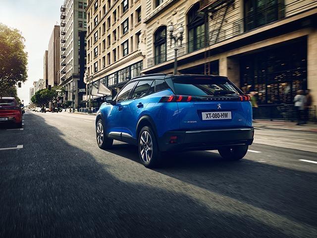Nieuwe Peugeot e-2008 SUV - Exterieur achterzijde