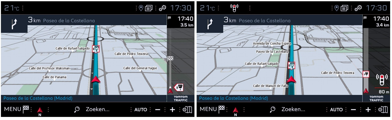 Connect 3D-navigatiesysteem - optie gevarenzones