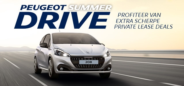 Peugeot SummerDrive - Peugeot 208 Private Lease Deal