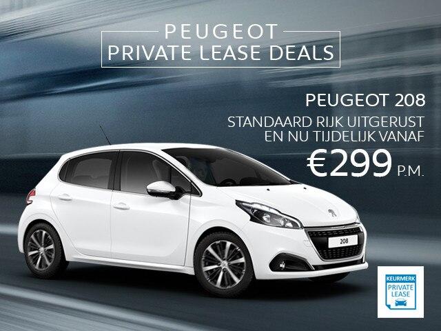 Peugeot Private Lease Deals - Peugeot 208