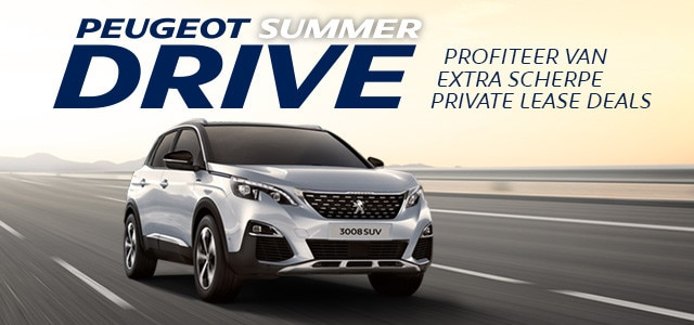 Peugeot SummerDrive - Peugeot 3008 SUV Private Lease Deal