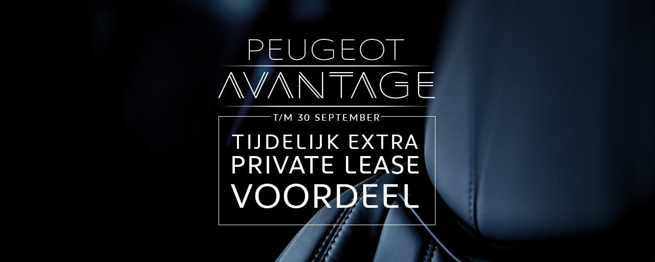 Peugeot Avantage - Tijdelijk extra Private Lease voordeel
