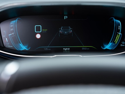 Peugeot 3008 SUV HYBRID - digitaal instrumentenpaneel